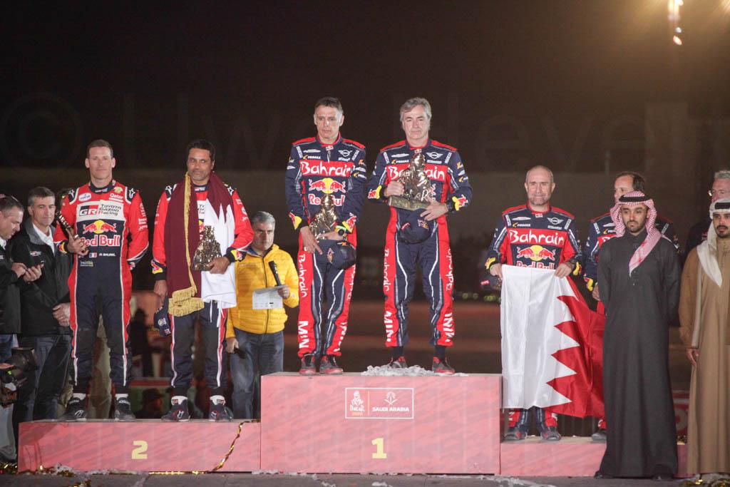 Siegerehrung Dakar 2020